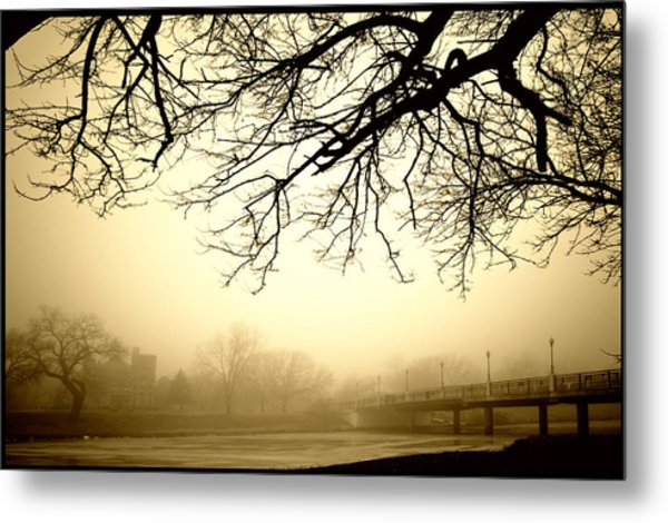 Castle In The Fog Metal Print