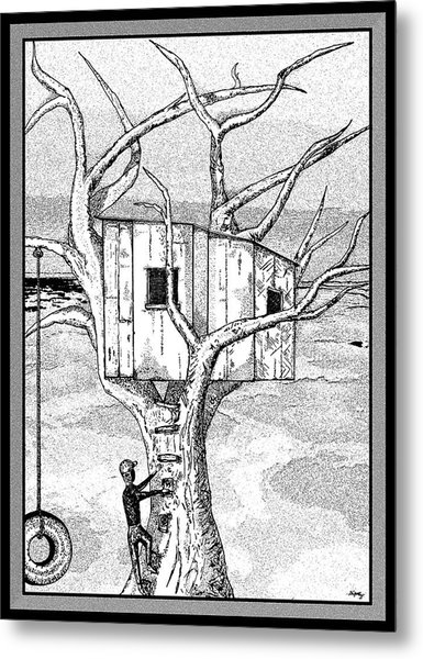 Castle In The Tree - A Childhood Dream Metal Print by Glenn McCarthy Art and Photography