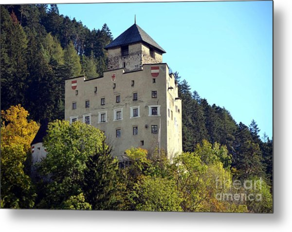 Castle Landeck In Austria Metal Print