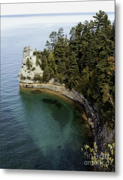Castle Rock Shoreline Metal Print