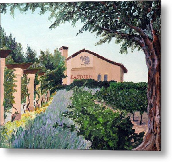 Castoro Winery Metal Print by Barbara Willey