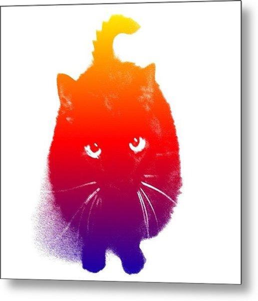 #cat #kitty #kitten #pets #animals Metal Print