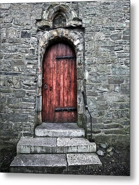 Cathedral Door Metal Print by Patrick  Flynn