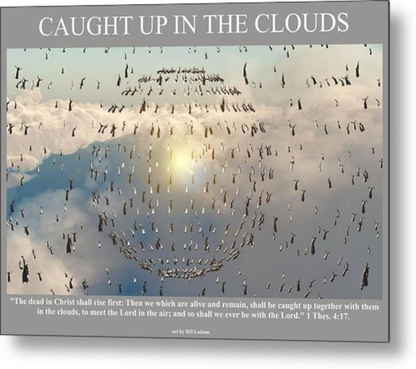 Caught Up In The Clouds Metal Print
