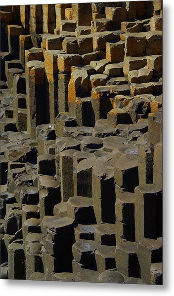 Causeway Stones Metal Print by Cat Shatwell