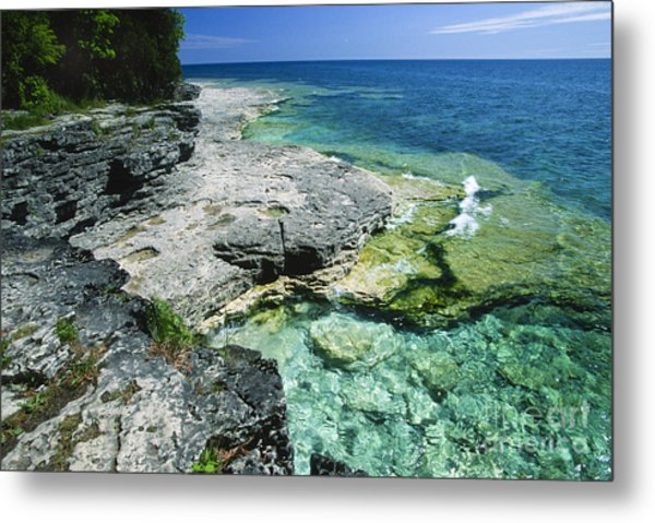 Cave Point Vista Metal Print