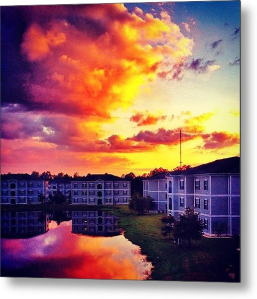 #ccu #sunset 🌇 Metal Print