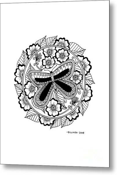 Cd 8 Black Butterfly Metal Print