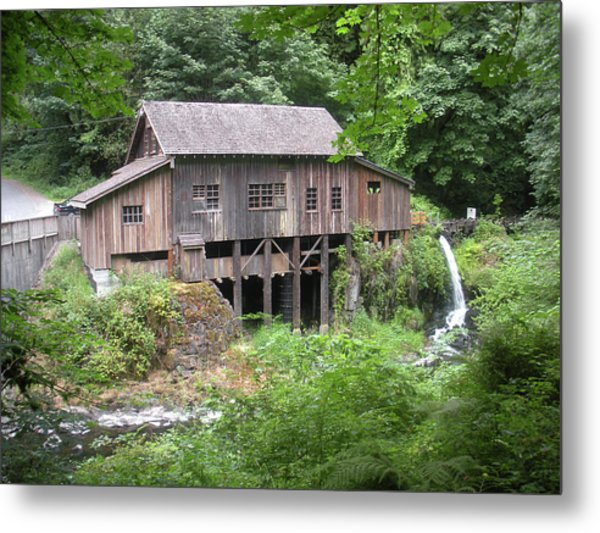 Cedar Creek Grist Mill Metal Print by Fred Russell