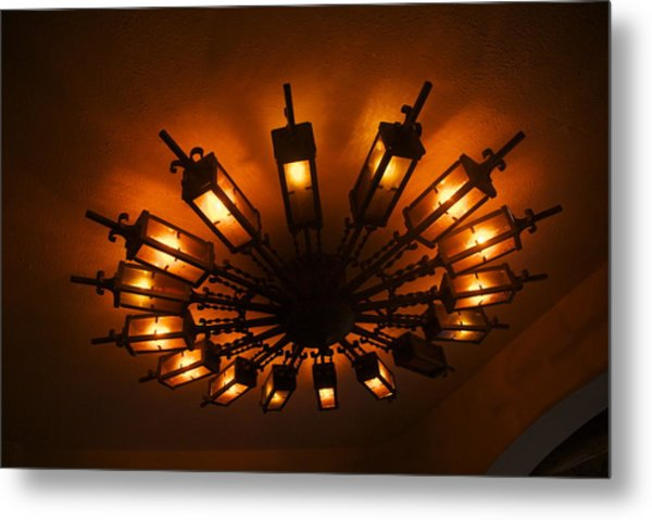 Ceiling Light At One O Clcok Metal Print by Dietrich Sauer