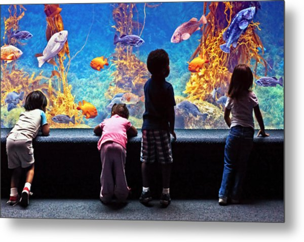 Celebrating Life Under The Sea  Metal Print by Donna Pagakis