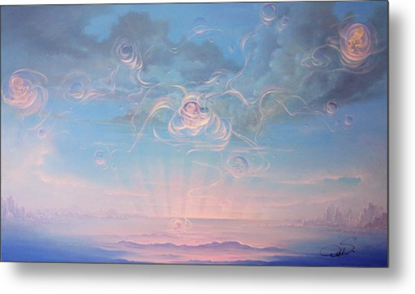 Celestial Connection Metal Print by Hans Doller