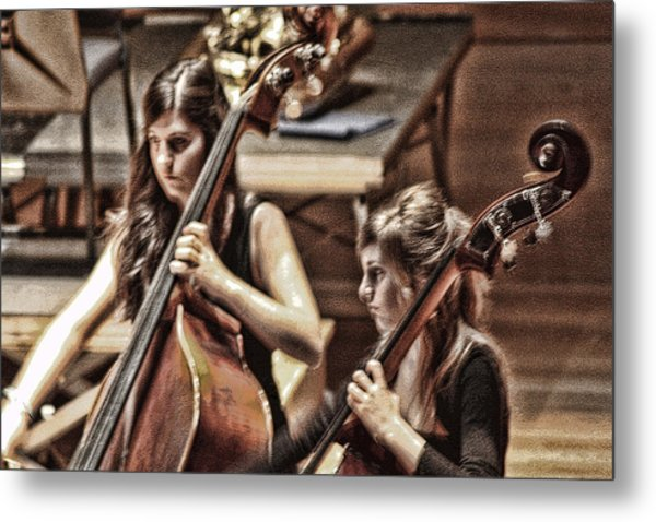 Cellist Metal Print