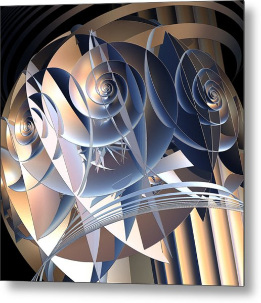 Cellular Orientation Metal Print by Michele Caporaso