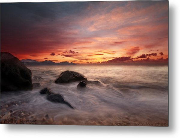 Celtic Sunset Metal Print
