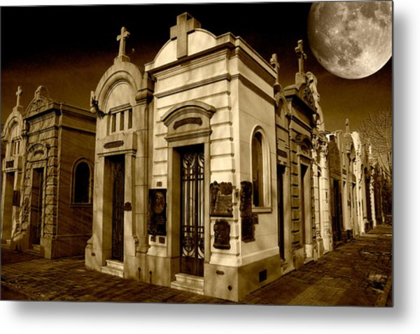 Cemetery Metal Print by Gustavo Fortunatto