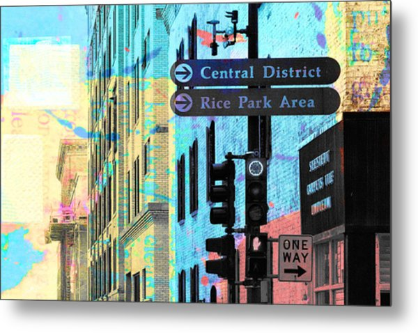 Central District Metal Print