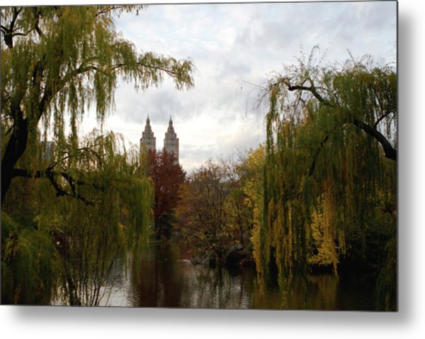Central Park Autumn Metal Print