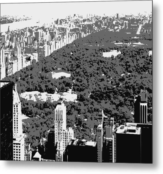 Central Park Bw3 Metal Print