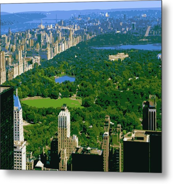 Central Park Color 16 Metal Print