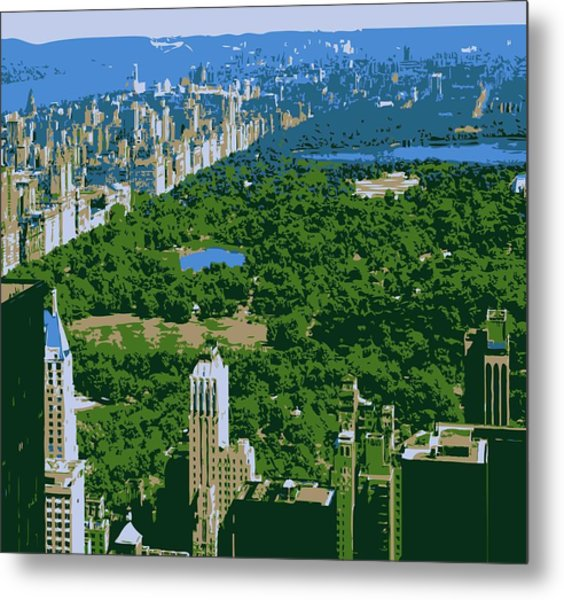 Central Park Color 6 Metal Print