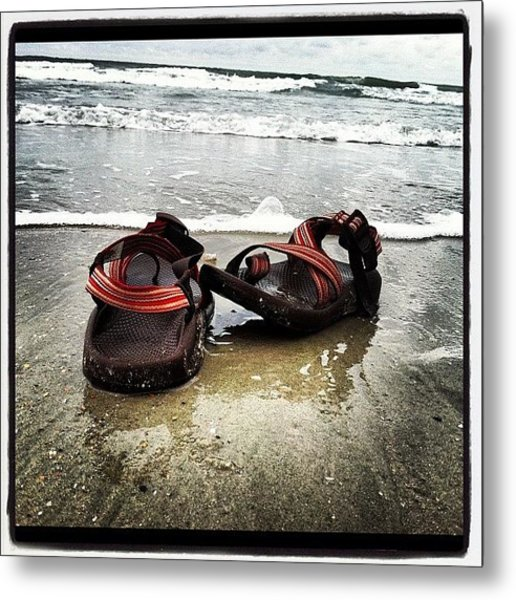 Chacos In The Water Metal Print
