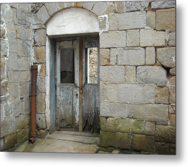 Chained Doors Metal Print