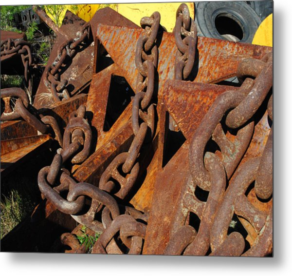 Chains And Anchors Metal Print