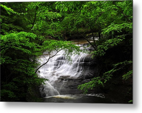 Chair Factory Falls Metal Print by Tina Karle