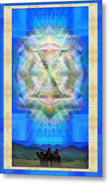 Chalice Star Over Three Kings Holiday Card Ix Metal Print by Christopher Pringer