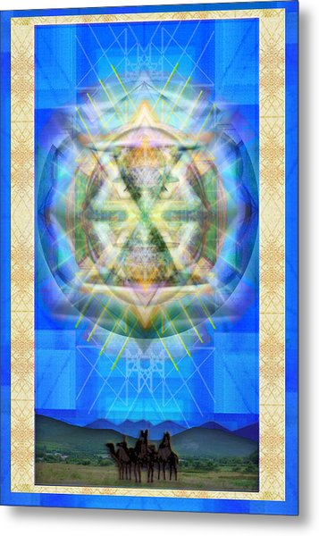 Chalice Star Over Three Kings Holiday Card Xabrti Metal Print by Christopher Pringer
