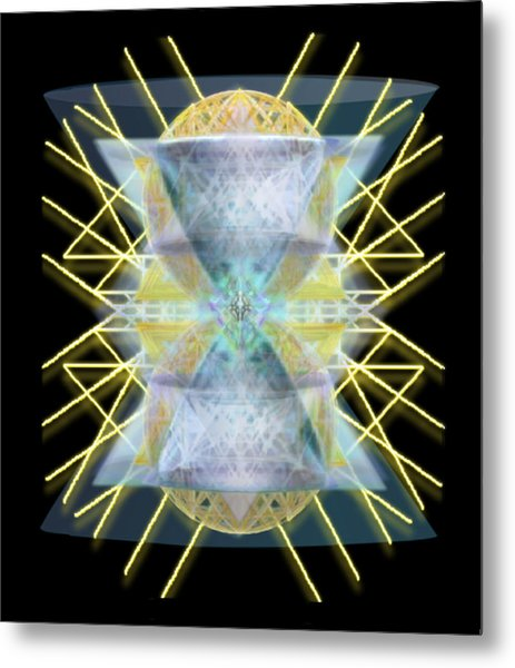 Chalices From Pi Sphere Goldenray II Metal Print