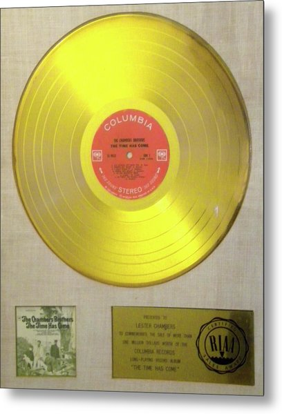 Chambers Brothers Gold Record Metal Print