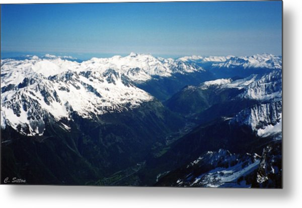 Chamonix Resort Overview Metal Print