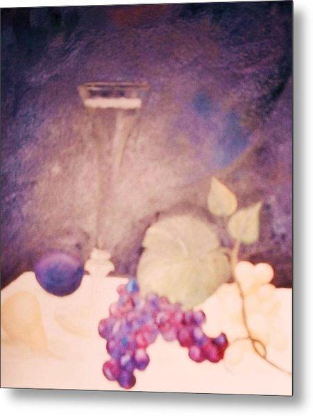 Champagne And Fruit Metal Print by Alanna Hug-McAnnally