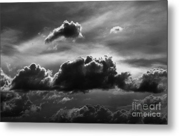 Charcoal Clouds Metal Print