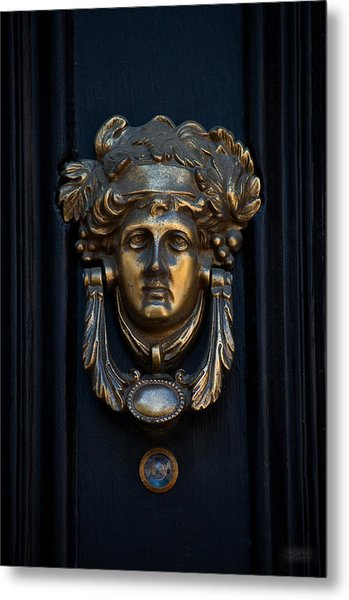 Charleston Brass Door Knocker Metal Print by Melissa Wyatt