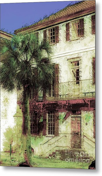 Charleston Homes Metal Print