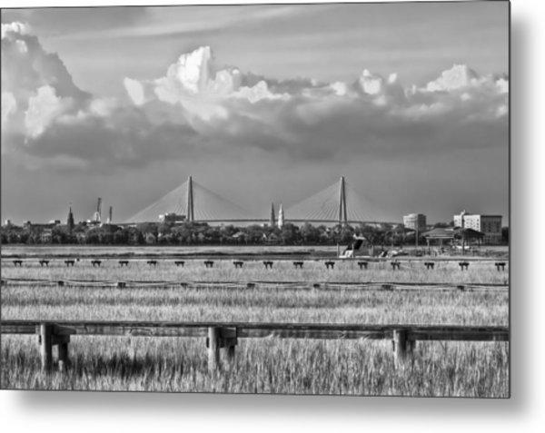 Charleston Skyline Metal Print by Drew Castelhano