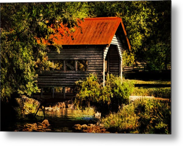 Charming Covered Bridge  Metal Print by Trudy Wilkerson