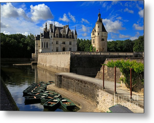 Chateau Chenonceau Loire Valley Metal Print
