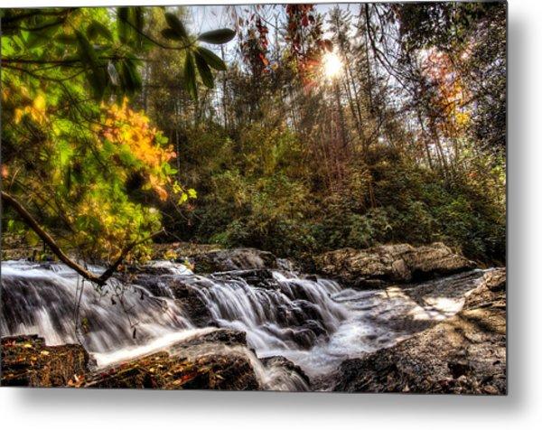 Chauga Narrows Waterfall Metal Print