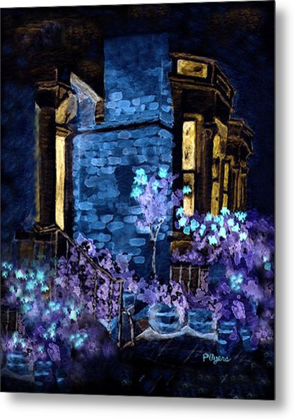 Chelsea Row At Night Metal Print