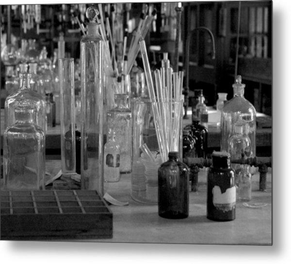 Chemistry set metal print by david taylor