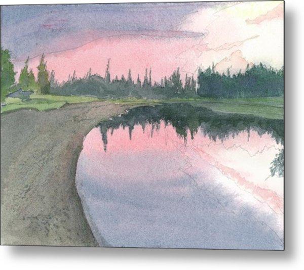 Chena River Sunset - 1 Metal Print