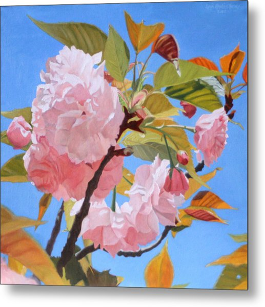 Cherry Blossom Time Metal Print by Leah Hopkins Henry