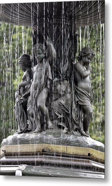 Cherub Bethesda Fountain  Metal Print