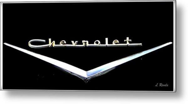 Chevrolet Logo Metal Print by Leslie Revels