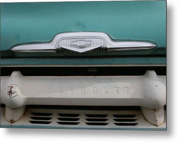 Chevy Blue Metal Print by Ken Riddle