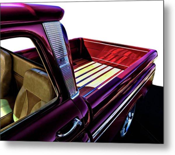 Chevy Custom Truckbed Metal Print